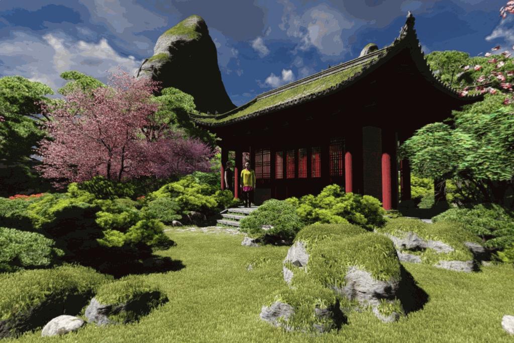 Panoramas view of Chinese Garden
