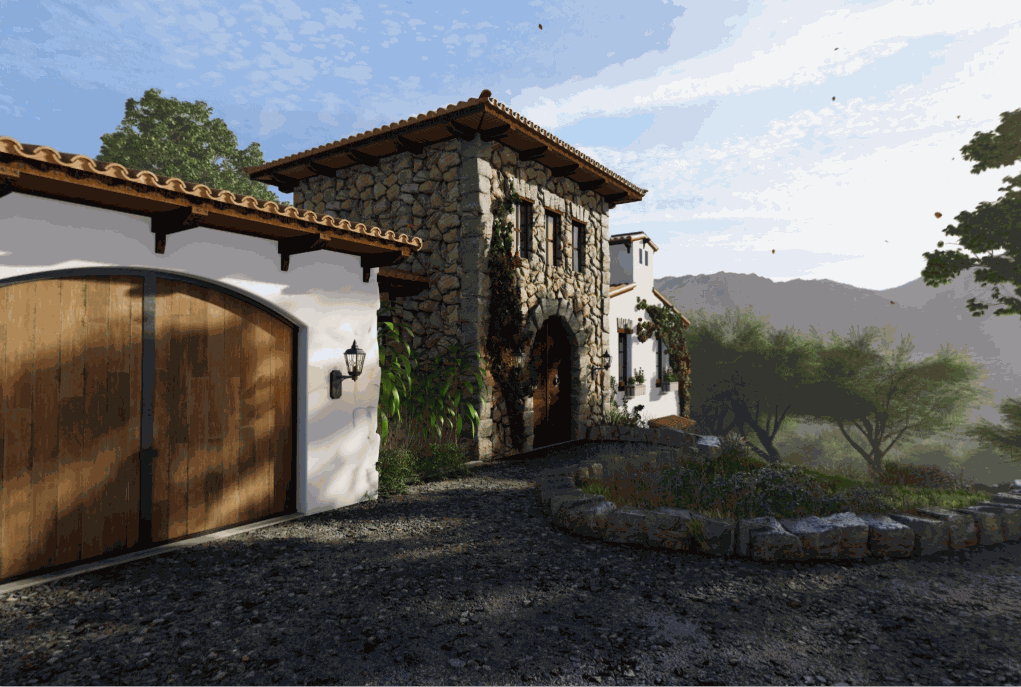 360 panoramas of the villa in the country side