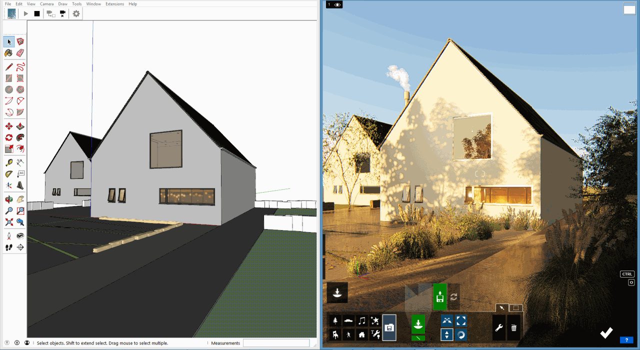 From SketchUp model to beautiful render
