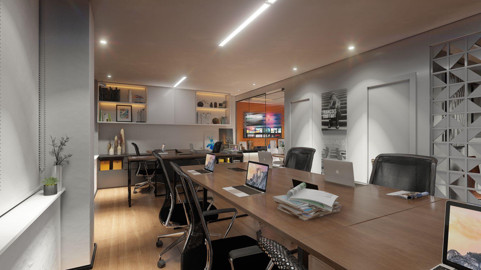 Conference room, model provided by Angello Marques Arquitetura e Design.