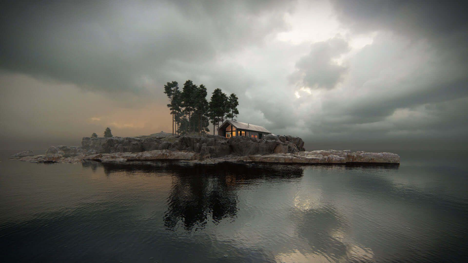 Winter cabin, designed by Vårdal Arkitekter AS and rendered in Lumion 11 by Bartosz Orliński.