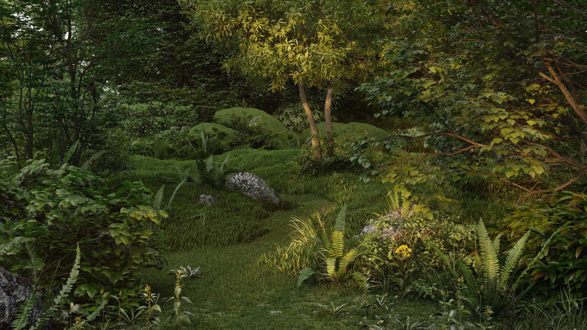 Nature Garden in Lumion
