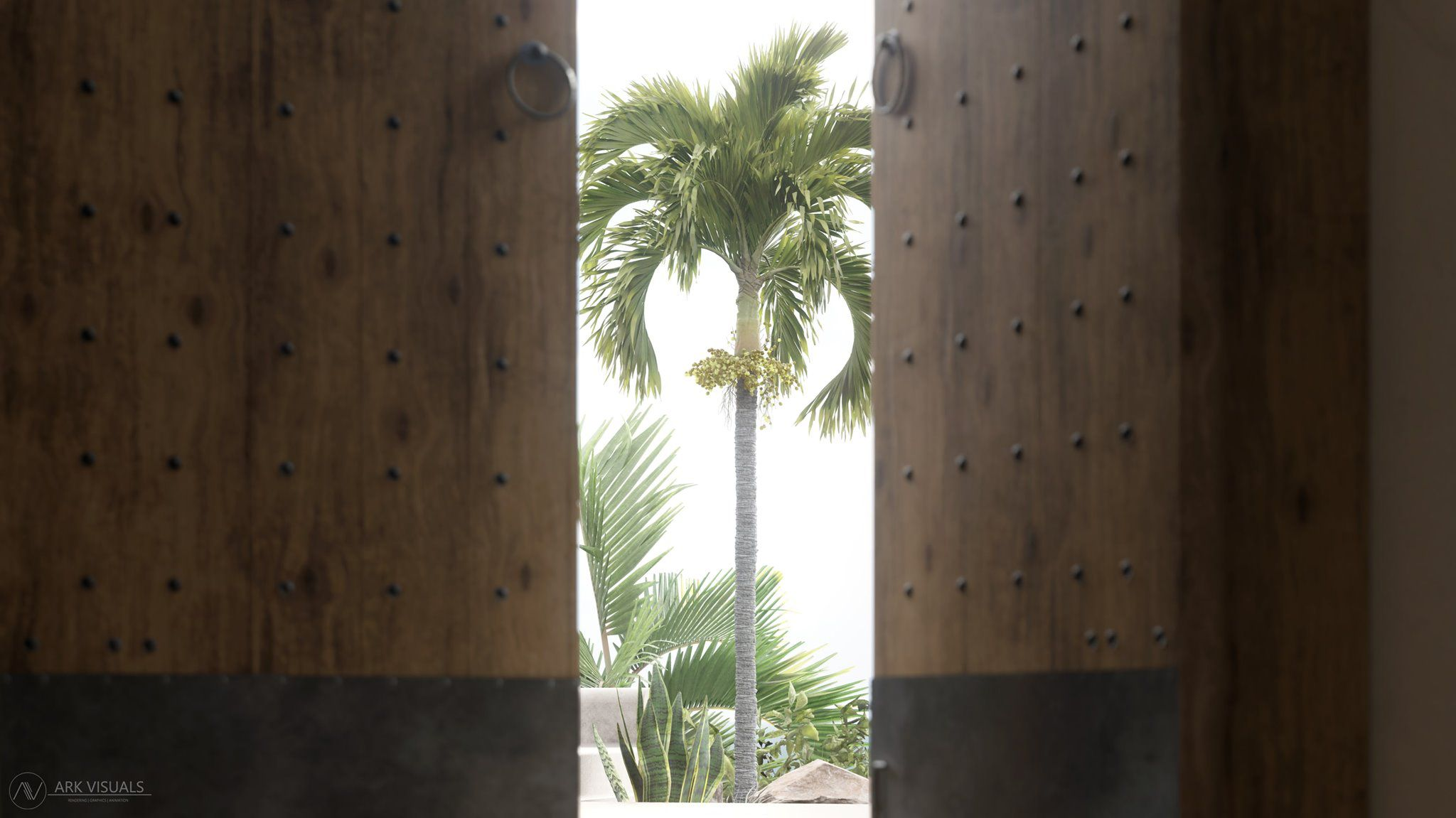 Opening the door to new possibilities in architectural rendering. Image by Ark Visuals from their project 'Scorpia.'